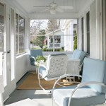 Refurbishing Furniture for Beach Style Porch with Beadboard