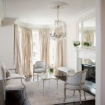 Refurbishing Furniture for Transitional Living Room with Crystal Chandelier