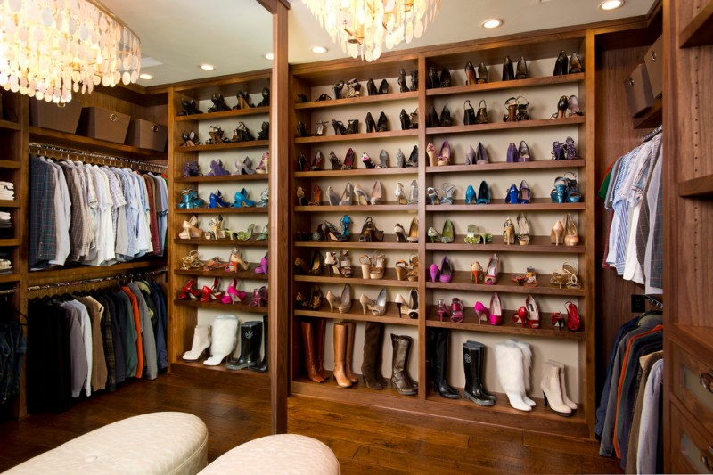 Renovate Credit Card for Traditional Closet with Shoe Organization