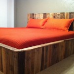 Repurposed Pallets for Contemporary Bedroom with Contemporary