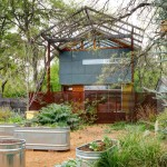 Repurposed Pallets for Contemporary Landscape with Vegetable Garden