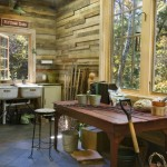Repurposed Pallets for Rustic Shed with Garden Tools