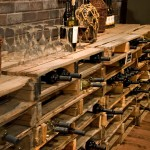 Repurposed Pallets for Traditional Wine Cellar with Basement