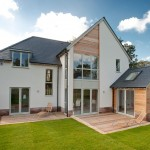 Restaining Wood for Modern Exterior with Rear Extension