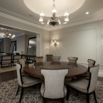 Revere Pewter Benjamin Moore for Contemporary Dining Room with Wood Molding