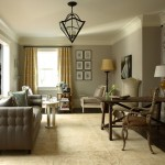 Revere Pewter Benjamin Moore for Traditional Living Room with Window Treatments
