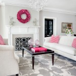 Revere Pewter for Transitional Living Room with Pink Living Room