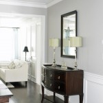 Revere Pewter Paint for Contemporary Dining Room with Dining Room Wainscoting