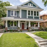 Revere Pewter Paint for Craftsman Exterior with Grass