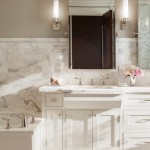 Revere Pewter Paint for Traditional Bathroom with Mirrors
