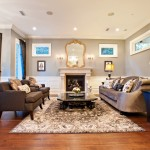 Revere Pewter Paint for Traditional Living Room with Large Rug