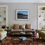 Revere Pewter Paint for Traditional Living Room with Oriental Rug