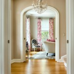 Revere Pewter Paint for Transitional Hall with Traditional Living Room