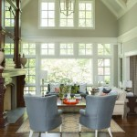 Revere Pewter Paint for Transitional Living Room with Vaulted Ceiling