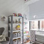 Rikshaw Design for Contemporary Nursery with Pouf