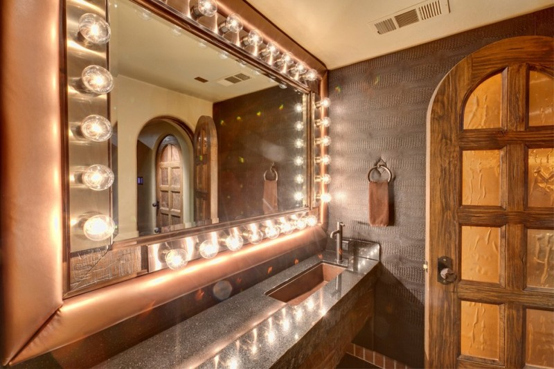 Rio Rancho Theater for Mediterranean Bathroom with Media Room