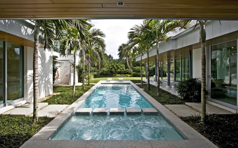 Rising Sun Pools for Modern Pool with Spa