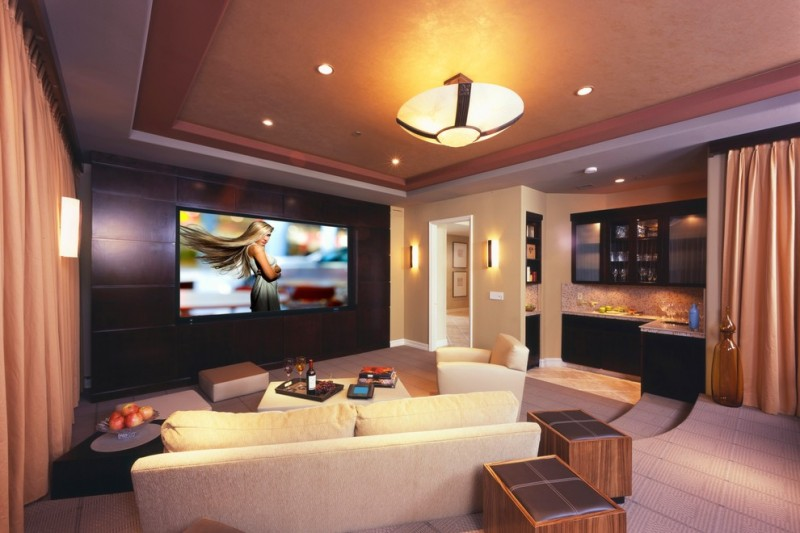 Rocky Mount Theater for Contemporary Home Theater with Media Room
