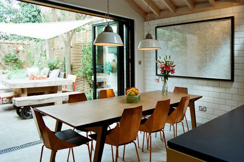 Rolly Chair for Contemporary Dining Room with Dining Pendants