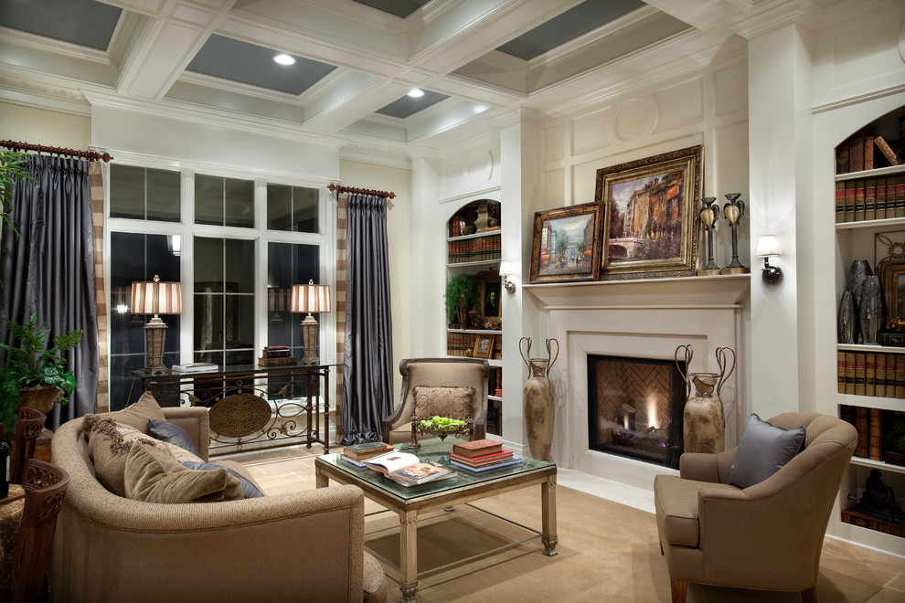 Romanelli and Hughes for Mediterranean Living Room with Can Light