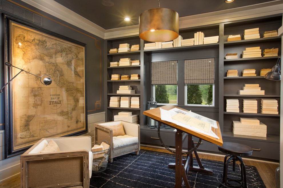 Romanelli and Hughes for Transitional Home Office with Map