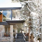 Roof Overhang for Contemporary Exterior with Flat Roof