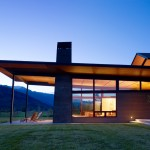 Roof Overhang for Contemporary Exterior with Picture Windows