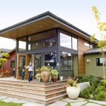 Roof Overhang for Contemporary Exterior with Steps