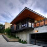 Roof Overhang for Modern Exterior with Black Trim