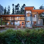 Roof Overhang for Modern Exterior with Wood Soffit