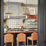 Rose Tarlow for Mediterranean Kitchen with Floating Shelves