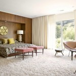 Rove Concepts for Midcentury Bedroom with Wood Wall