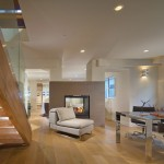 Rrm Design Group for Contemporary Family Room with Two Way Fireplace