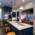 Rrm Design Group for Contemporary Kitchen with Blue Stained Cabinets Wolf Range Subze
