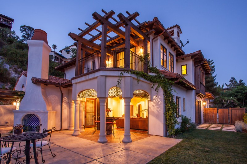 Rrm Design Group for Mediterranean Exterior with Wood Post