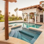Rrm Design Group for Mediterranean Pool with Concrete Hot Tub Trim