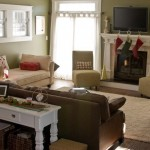 Rudd Furniture for Craftsman Family Room with Green Walls