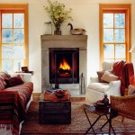 Rumford Fireplace for Rustic Living Room with Traditional