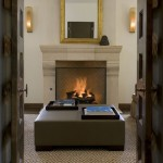 Rumford Fireplace for Traditional Living Room with Trays
