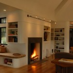 Rumford Fireplace for Transitional Living Room with Family Room