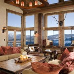Rustic Living Room Ideas for Rustic Living Room with Cabin