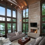 Rustic Living Room Ideas for Rustic Living Room with Gray Sofa