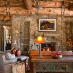 Rustic Living Room Ideas for Rustic Living Room with Rustic Wood