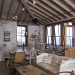 Rustic Living Room Ideas for Rustic Living Room with Stone Walls