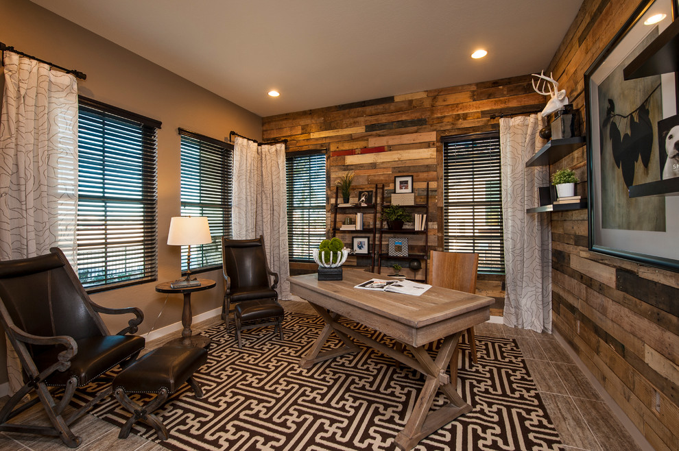 Ryland Homes Az for Contemporary Home Office with Sheer Curtain