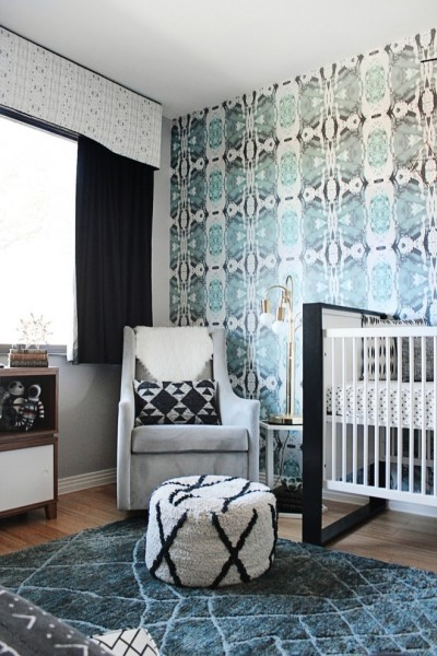 Ryland Homes Az for Contemporary Nursery with Nursery Wallpaper