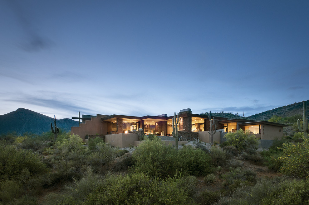 Ryland Homes Az for Southwestern Exterior with Floor to Ceiling Windows