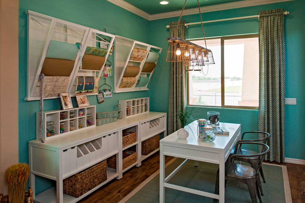 Ryland Homes Az for Traditional Home Office with Basket Storage