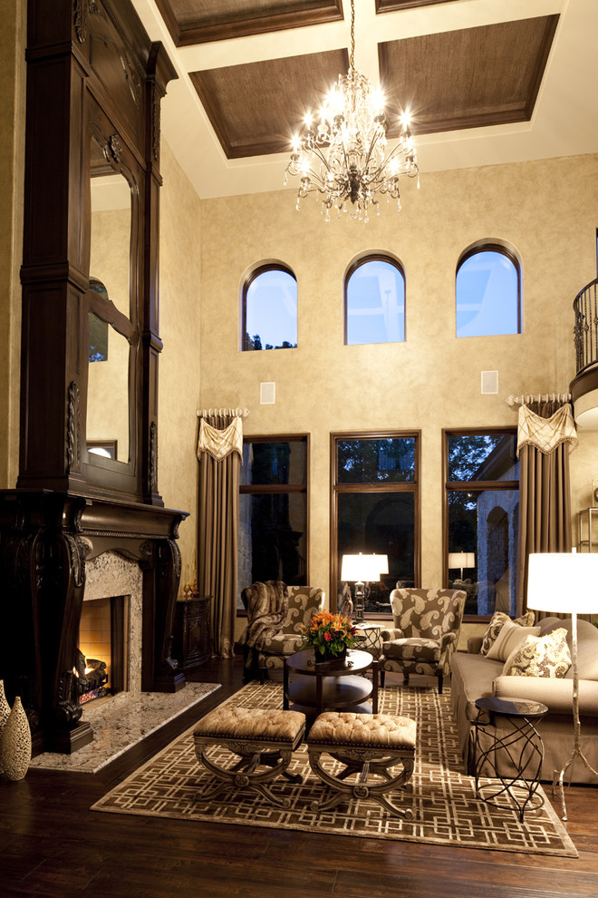 Ryland Homes Indianapolis for Traditional Living Room with Clerestory