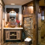 Sacramento River Train for Rustic Bathroom with Wall Mounted Faucet